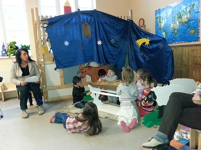 weihnachtsfeier im evangelischen kindergarten ev luth. Black Bedroom Furniture Sets. Home Design Ideas