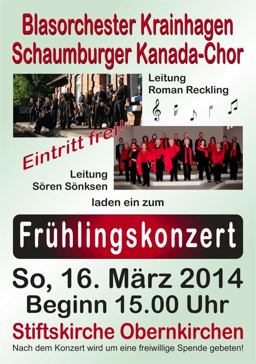 2014-03-16 - Fruehlingskonzert - Plakat A4